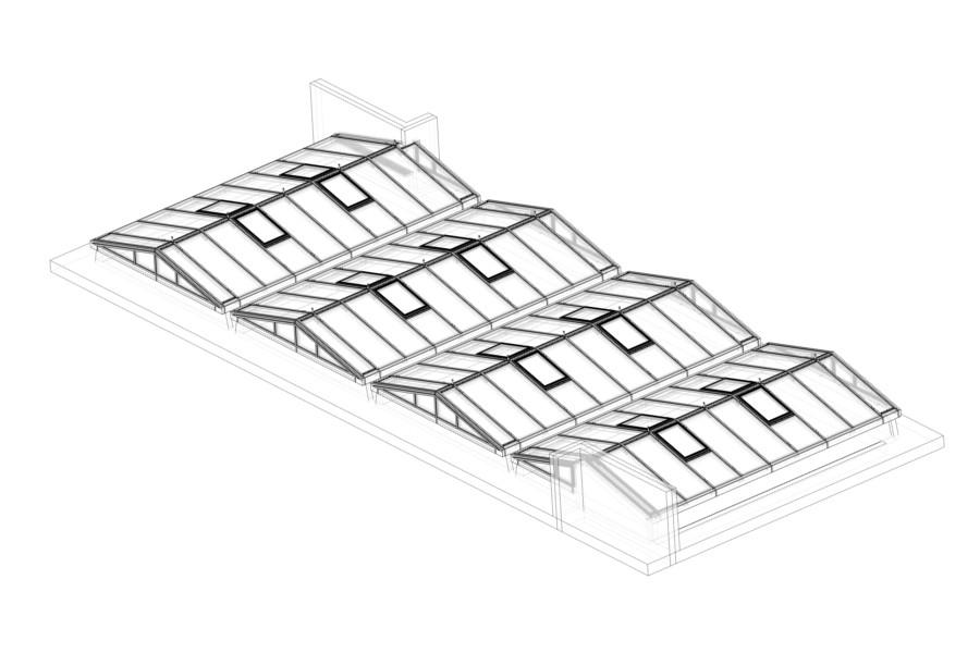 Sanierung Glasdächer, Binzmühlestr. 14